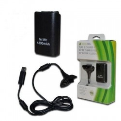 Bateria Carga y Juega Negro XBOX 360