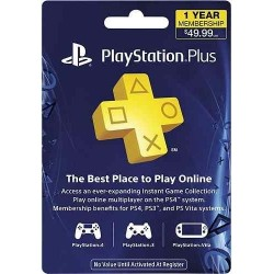 Tarjeta Playstation Plus 1 año Sony (Cuenta Americana)