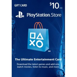 Tarjeta Playstation Network PSN Card USD$10 DIGITAL - USA