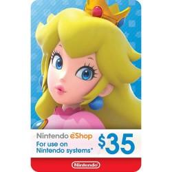 Tarjeta Nintendo eShop USD $35 DIGITAL - USA