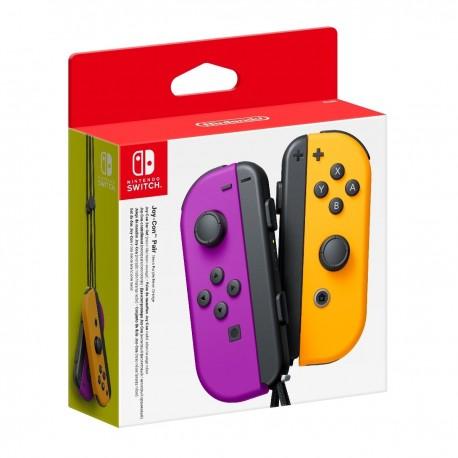 Nintendo Switch Joy-Con LR Neon Purple Neon Orange (Derecho-Izquierdo)