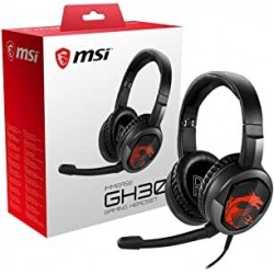 AUDÍFONOS GAMER MSI IMMERSE GH30 PC PS4 XBOX NEGRO