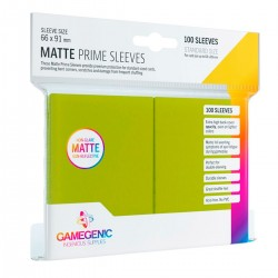Protectores GG BGG Sleeves Matte Prime Sleeves Lime x100