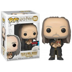 Figura Funko Pop Harry Potter S7 Filch With Mrs Norris Yule NYCC 2019 101