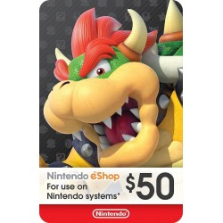 Tarjeta Nintendo eShop US $50