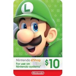 Tarjeta Prepago Nintendo eShop US$10