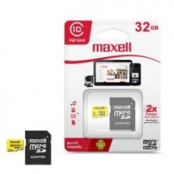 Micro SD 32 GB   Maxell con Adaptador Clase 10